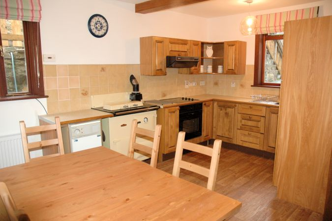 Tigharry Cottage, Lochcarron, has a spacious and well appointed kitchen/dining room.