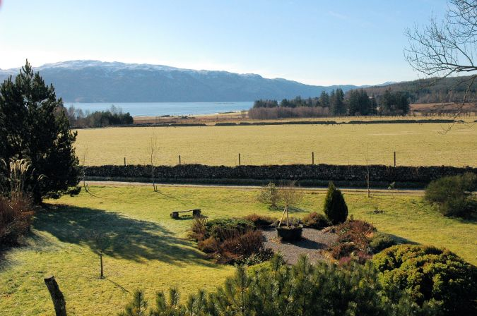 There are superb views from the bedroom windows at Gardener's Cottage, Lochcarron.