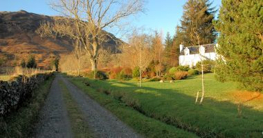 Gardener's Cottage, Lochcarron, stands at the side of a private drive, approx. 500 yards from the main road.