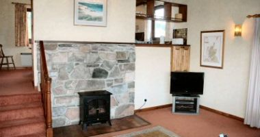 The lounge in Struan Cottage, Croft Road, Lochcarron.